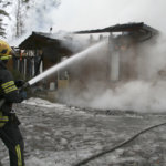 Hirsitalo tuhoutui pahoin Viialassa