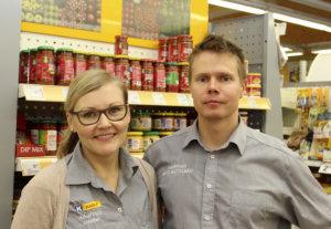 Hanna ja Matti Mattelmäki pyörittäneet  K-market Maukasta kohta kolme vuotta.