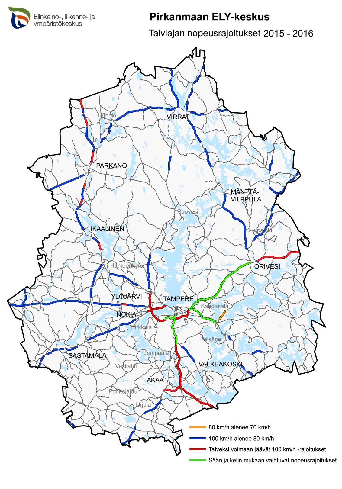 Nopeusrajoitukset Kartta