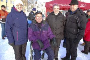 Sirpa Nieminen, Reijo Nieminen, Tarja Reunanen ja Reijo Reunanen tulivat paikalle lähinnä Ilmari Nurmisen takia.
