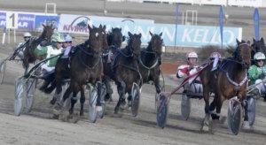 Timo Leivo sai Forssassa juhlia vaiherikkaan kisan maalissa kovan tammansa Jaqueline Mon Amin (16) voittoa. Kuva: Rauli Ala-Karvia.
