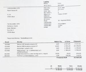 Akaan kaupungin saamien laskujen perusteella Keskustan koulun suurin yksittäinen ostos oli arvonlisäverottomana noin 42 000 euroa. Hankintaa ei kilpailutettu Hilmassa eikä siitä ole toimialajohtajan hankintapäätöstä.