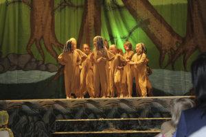 Tanssijoita nähtiin lavalla mitä erilaisimmissa hahmoissa.