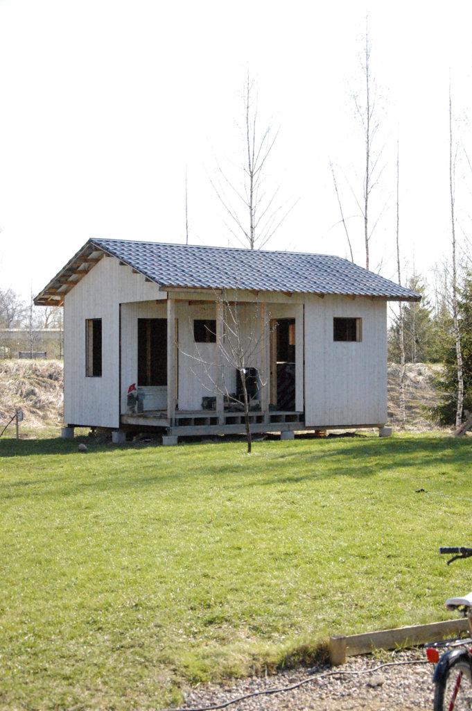 Ville Noroilan saunaprojekti sai alkunsa talonrakennusvaiheessa viemärien vetämisellä.