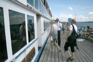 Mervi ja Harri Maijala nousivat M/S Silver Moonin kyytiin Toijalasta viime keskiviikkona.