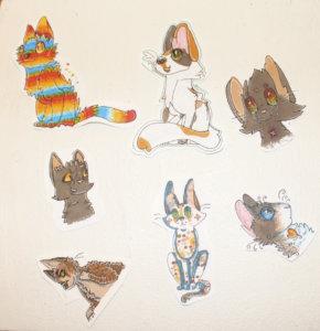 Martan kissa-aiheiset työt ovat syntyneet muun muassa Soturikissat-kirjojen ja roolipelien innoittamana.