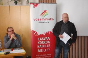 Vasemmistoliitto, Juho Kautto, Jukka Saari