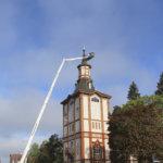 Akaan kirkon maalausurakka jatkui yläilmoissa