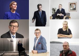 Presidentinvaalit 2018, Haatainen, Haavisto, Huhtasaari, Kyllönen, Niinistö, Torvalds, Vanhanen, Väyrynen