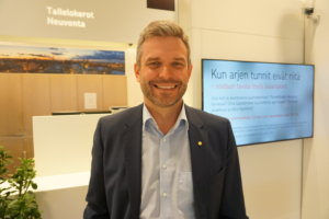 - OP Tampereella on iso ja vastuullinen rooli Pirkanmaan kehittämisess, syyskuun alussa pankin toimitusjohtajana aloittava Jani Vilpponen sanoo. (Kuva: Matti Pulkkinen)