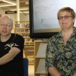 Tatun ja Patun laiva seilasi munakaspannulla Akaan pääkirjastossa – Aino Havukaisen ja Sami Toivosen seuraava kirja vie Outolan kaksikon kiskoille