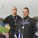 Toijalan Vauhdin Lauri Laasala ja Jari Salin voittivat kuulan SM-kultaa Aikuisurheiluliiton kisoissa